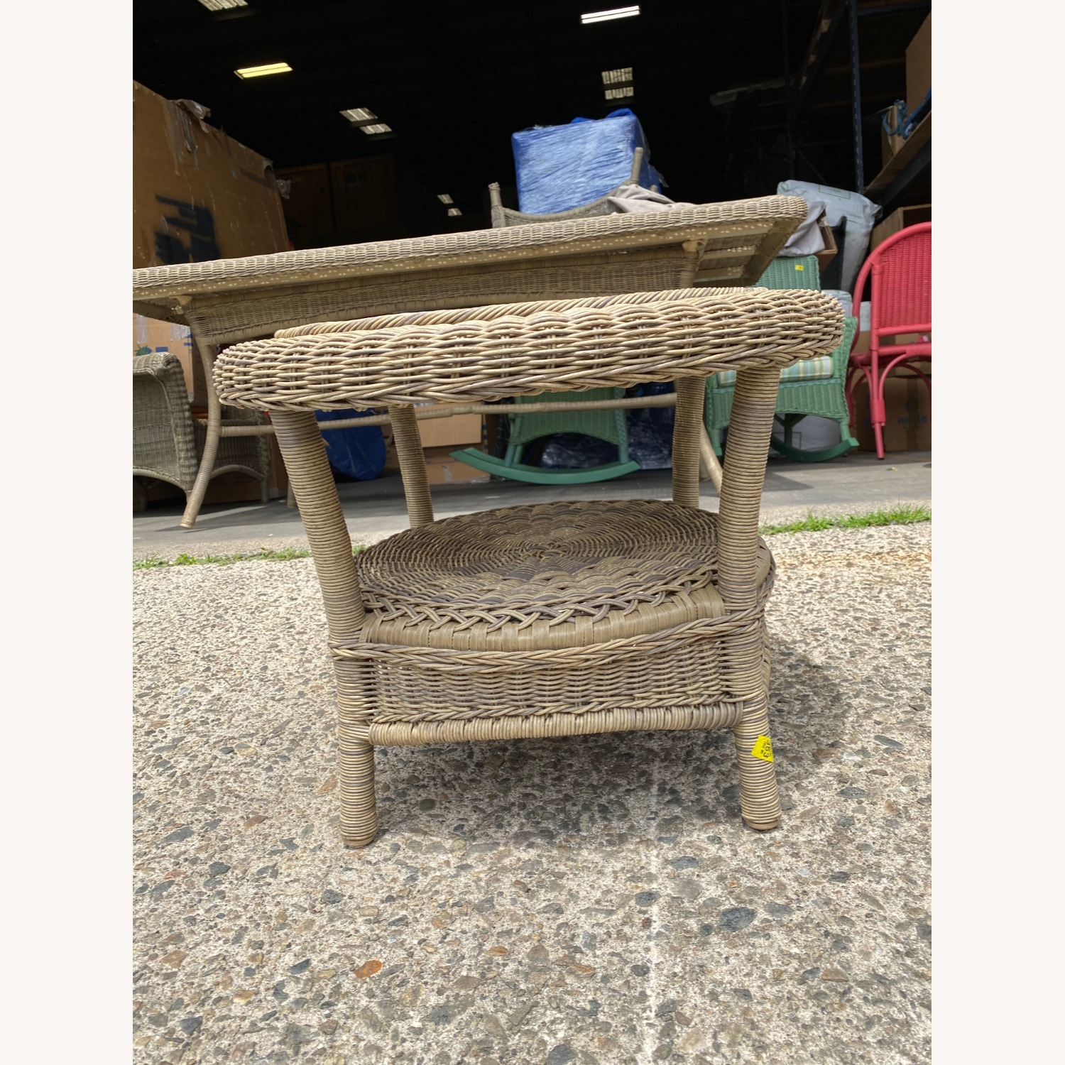 Restoration Hardware Wicker Bistro Table - image-3
