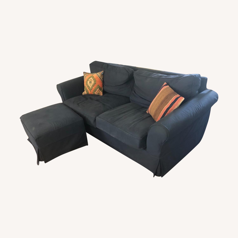 Pottery Barn Comfort Down Blend Slipcovered Sofa - image-0