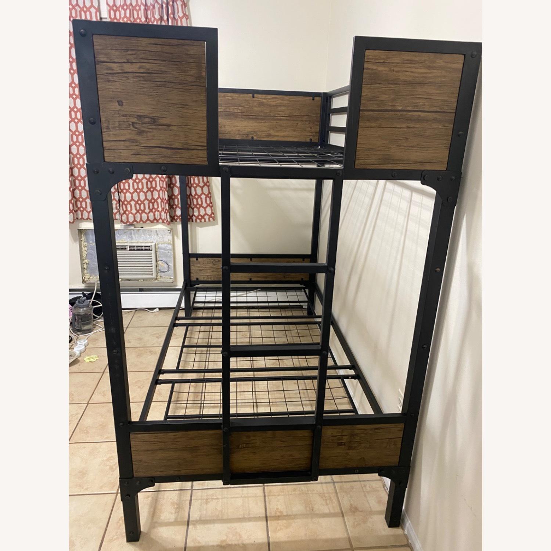 Furniture of America Industrial Metal Wood Twin Bunk Bed - image-3