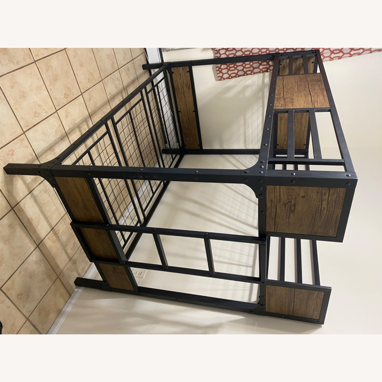Furniture of America Industrial Metal Wood Twin Bunk Bed - image-6