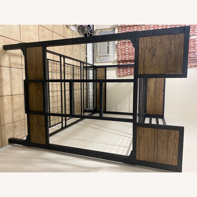 Furniture of America Industrial Metal Wood Twin Bunk Bed - image-7