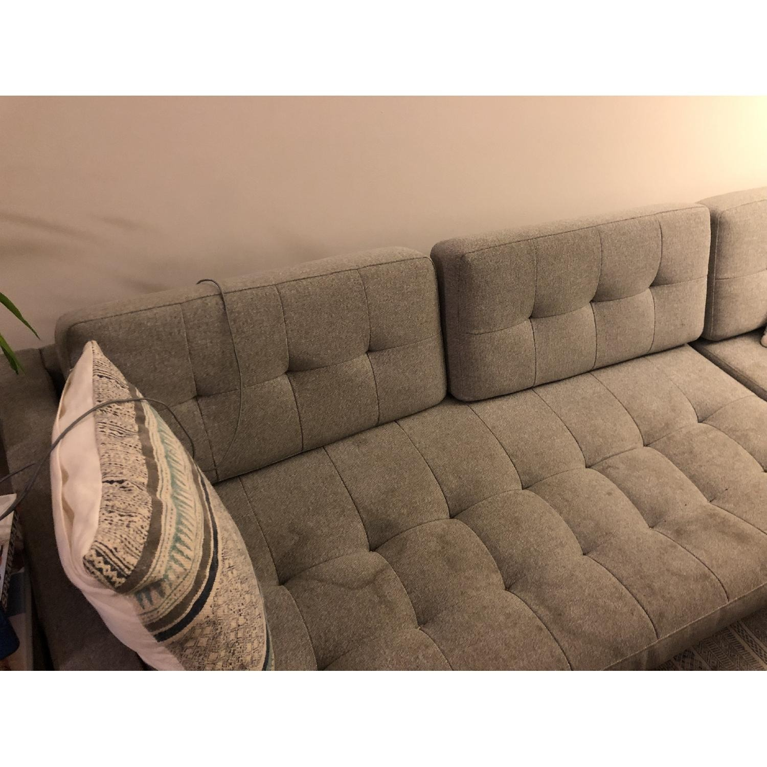 CB2 Ditto II Grey Sectional Sofa - image-4