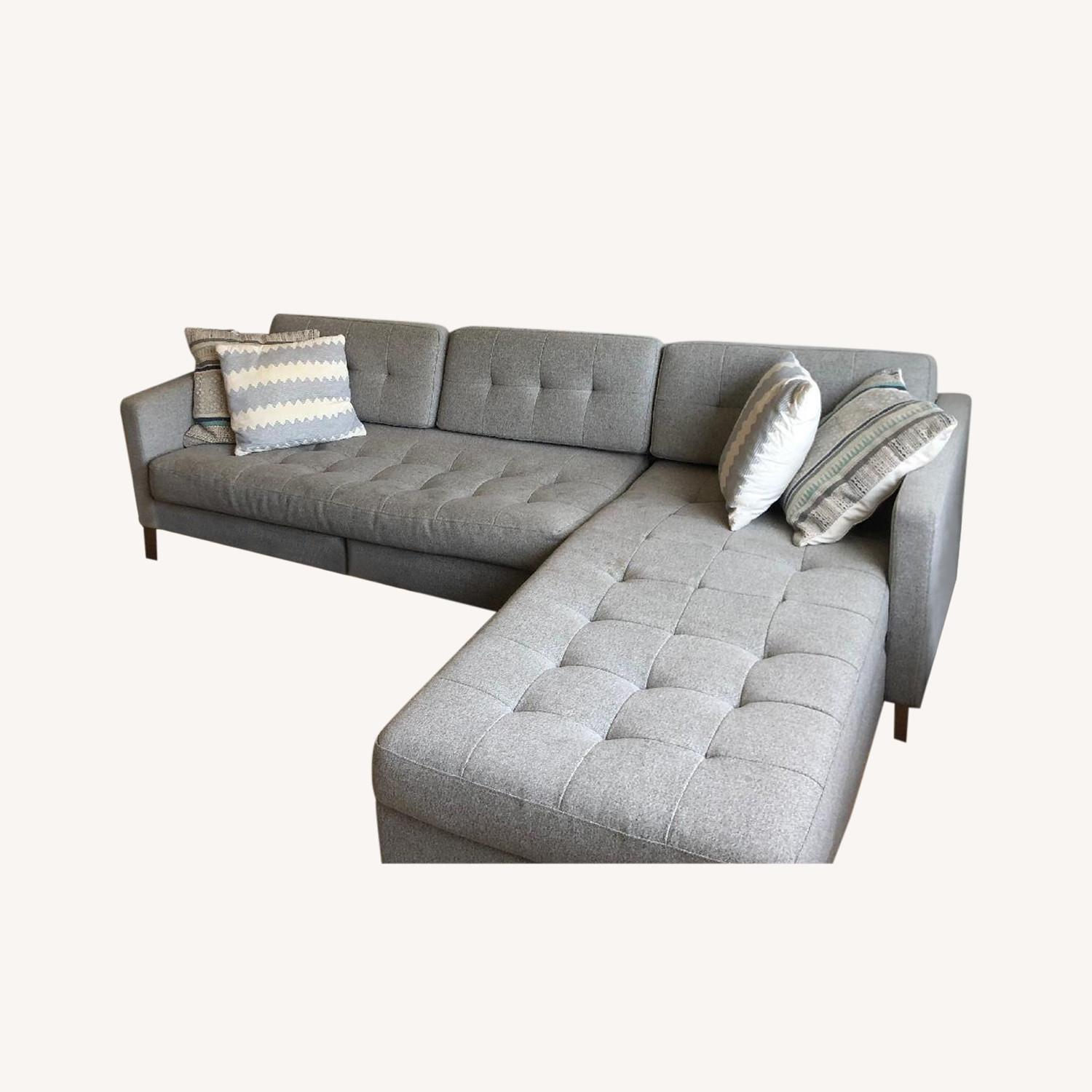 CB2 Ditto II Grey Sectional Sofa - image-0
