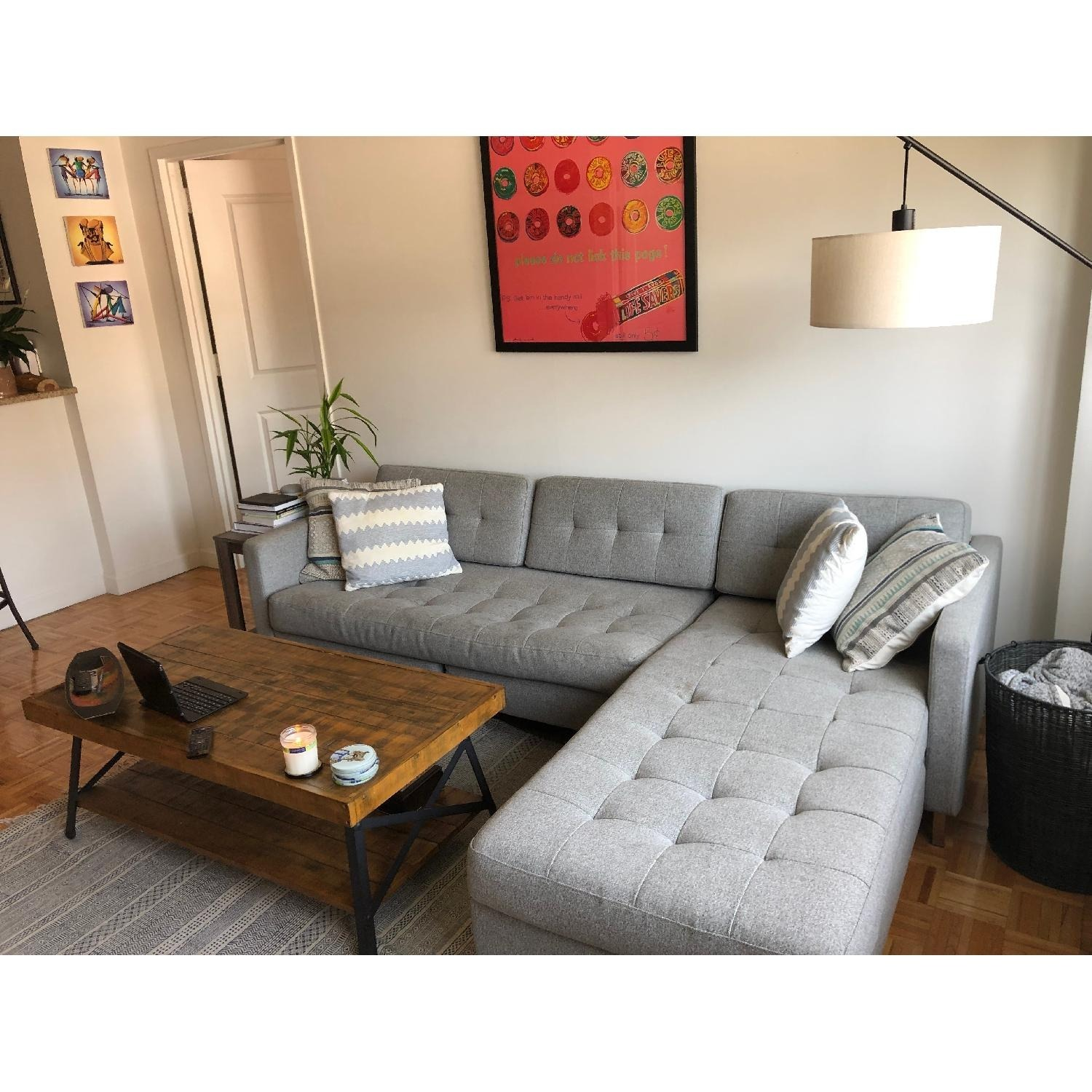 CB2 Ditto II Grey Sectional Sofa - image-1