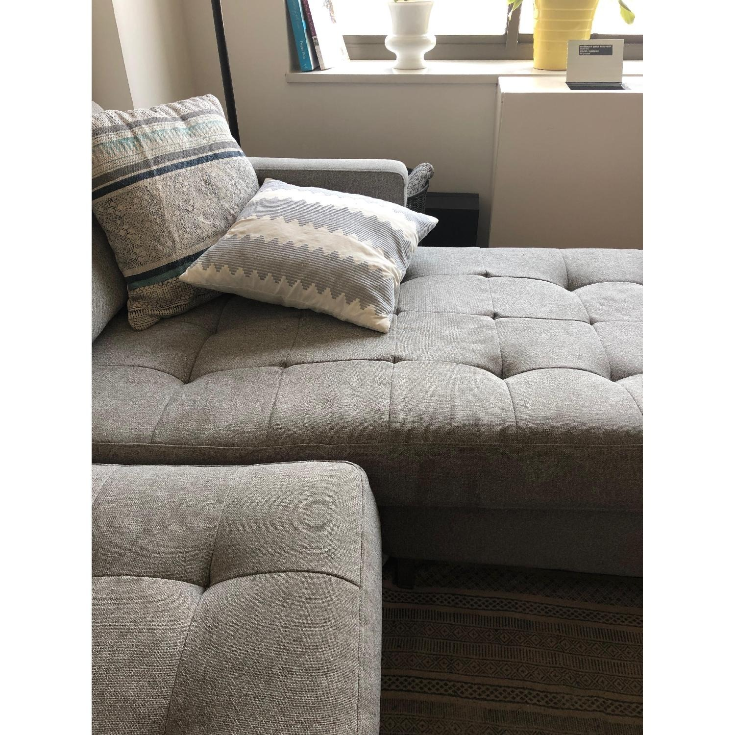 CB2 Ditto II Grey Sectional Sofa - image-3