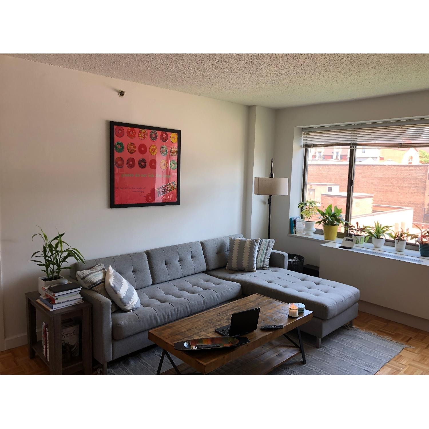 CB2 Ditto II Grey Sectional Sofa - image-2