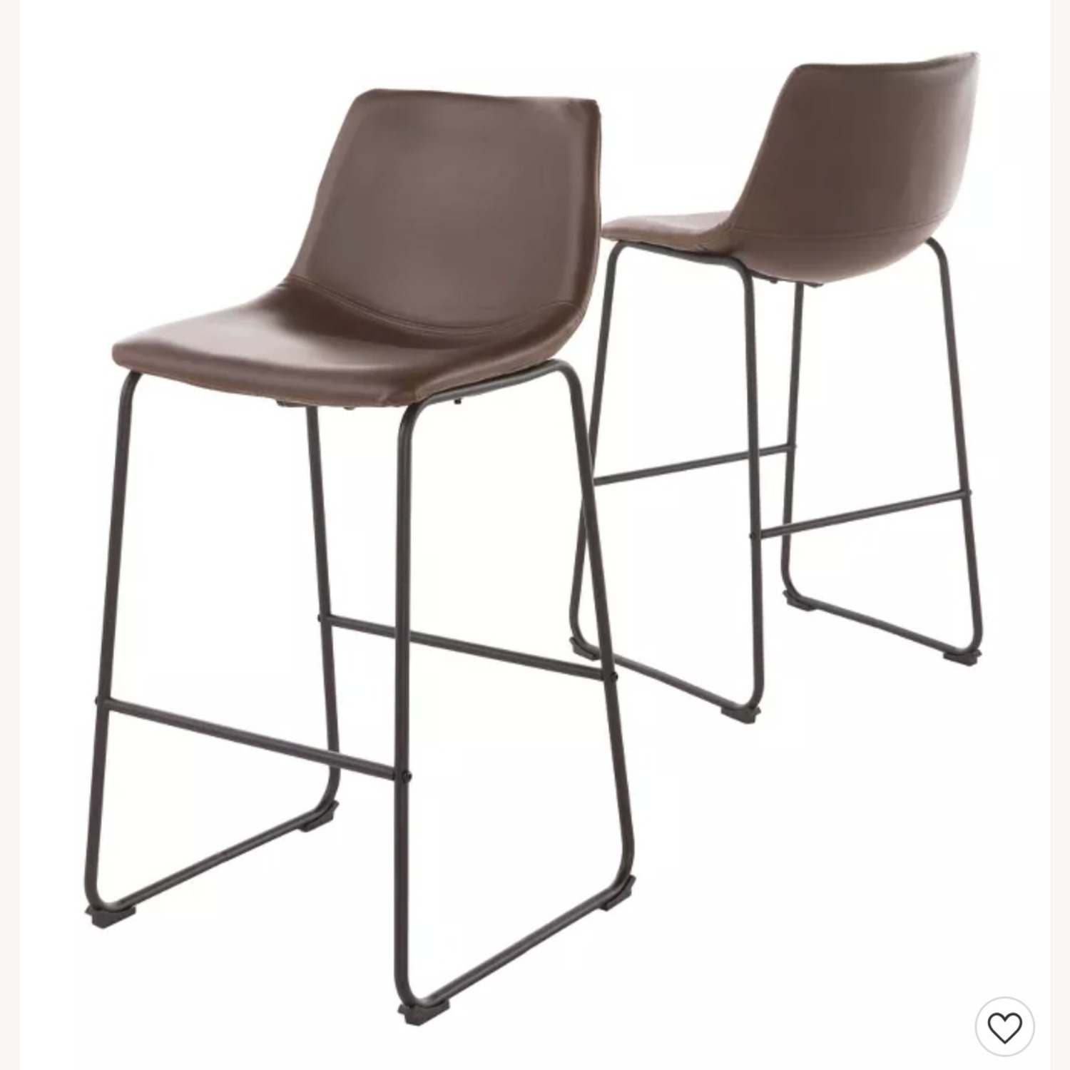 Target Faux Leather Barstools in Vintage Brown (Set of 2) - image-1