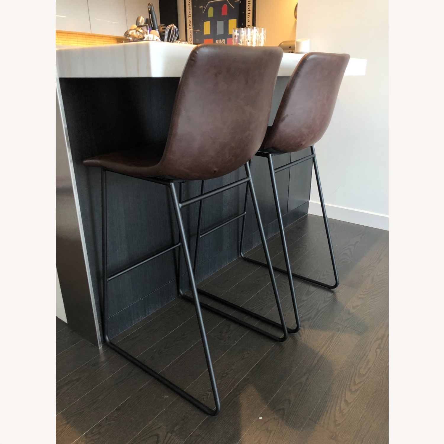 Target Faux Leather Barstools in Vintage Brown (Set of 2) - image-5