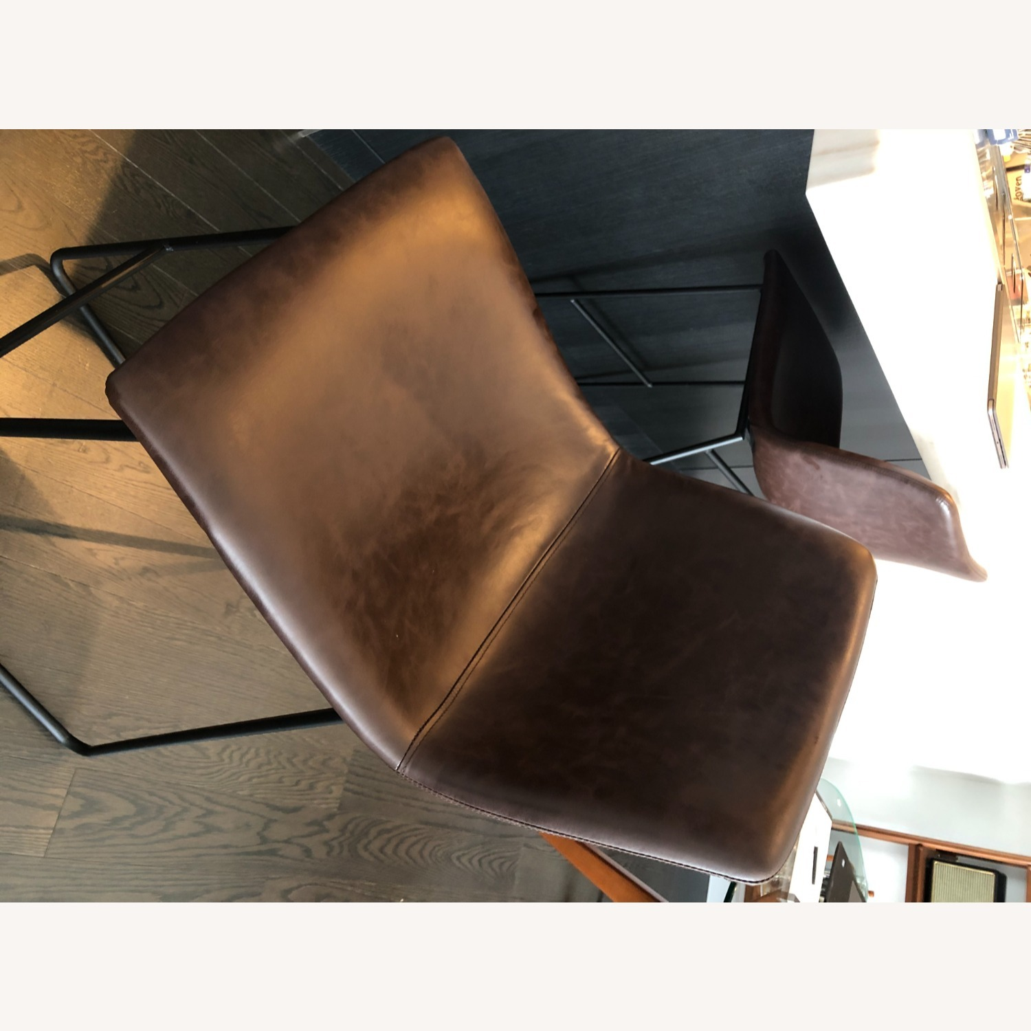 Target Faux Leather Barstools in Vintage Brown (Set of 2) - image-3