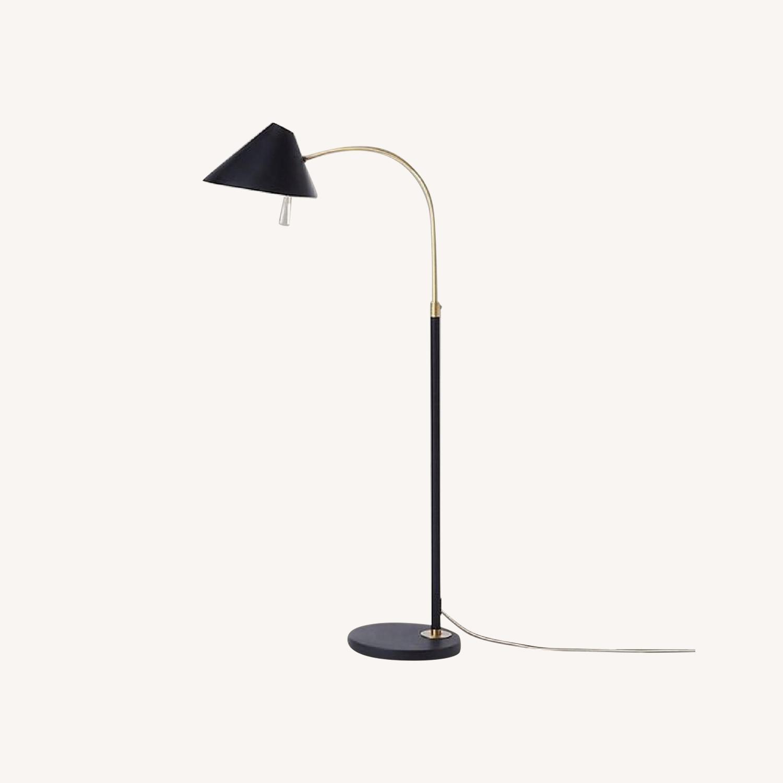 Black West Elm Floor Lamp - image-0