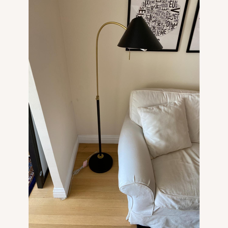 Black West Elm Floor Lamp - image-1