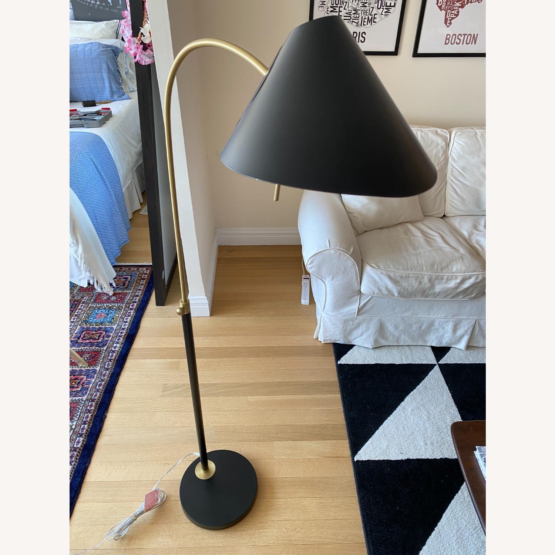 Black West Elm Floor Lamp - image-2