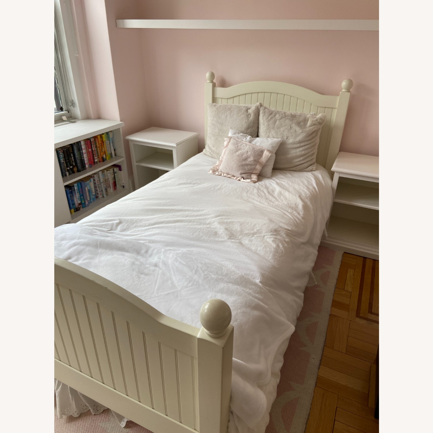 Pottery Barn Kids Catalina Bed, Twin, Simply White - image-1