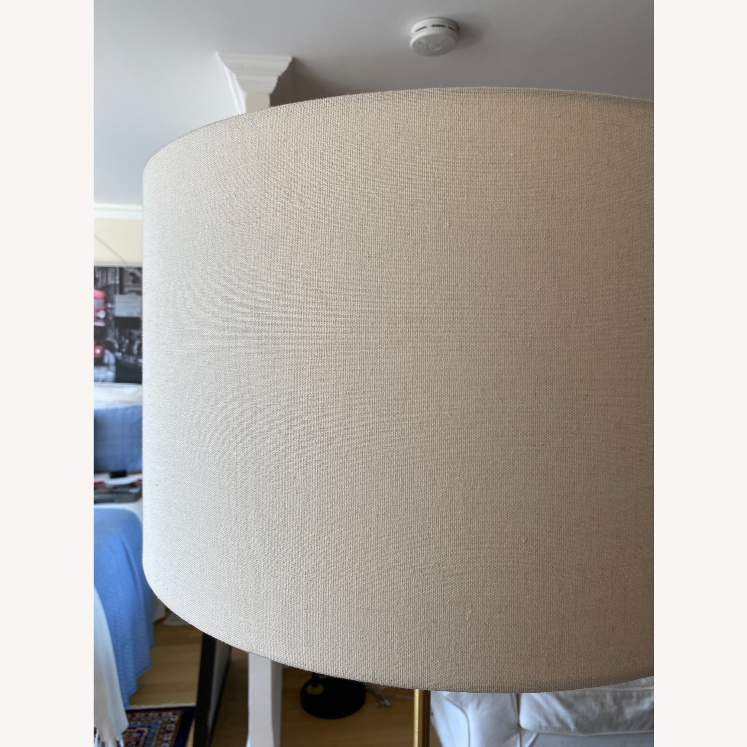 White West Elm Stand Lamp - image-4