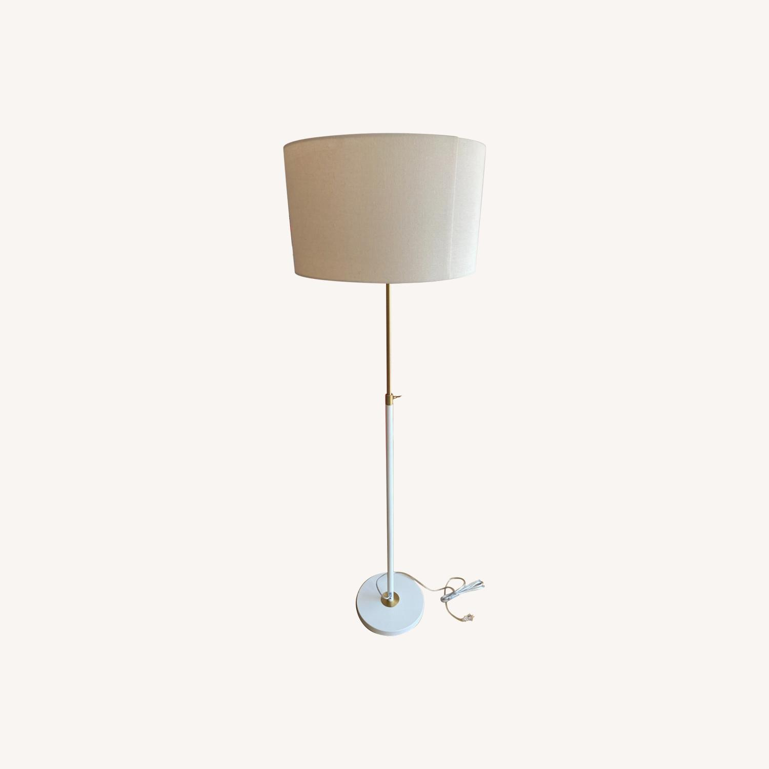 White West Elm Stand Lamp - image-0