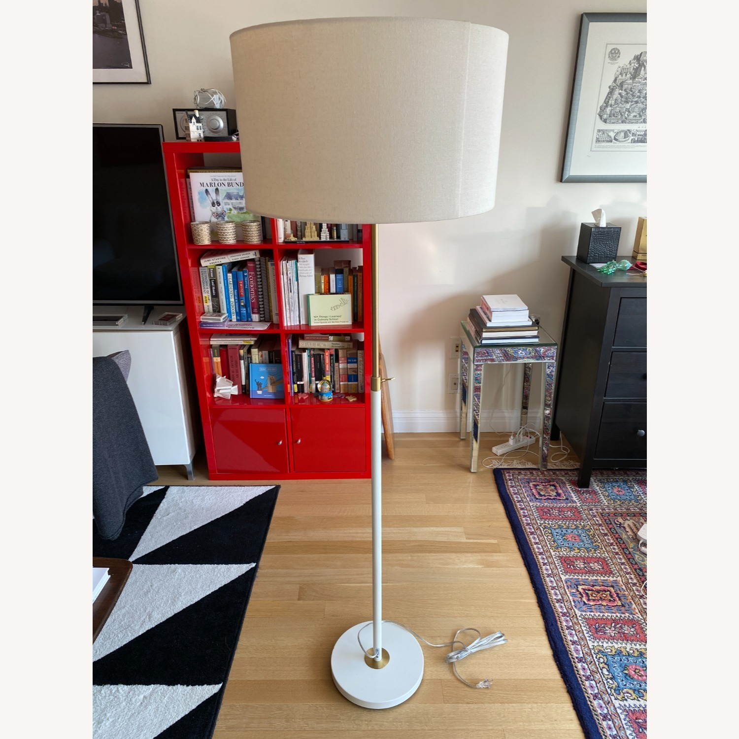 White West Elm Stand Lamp - image-1