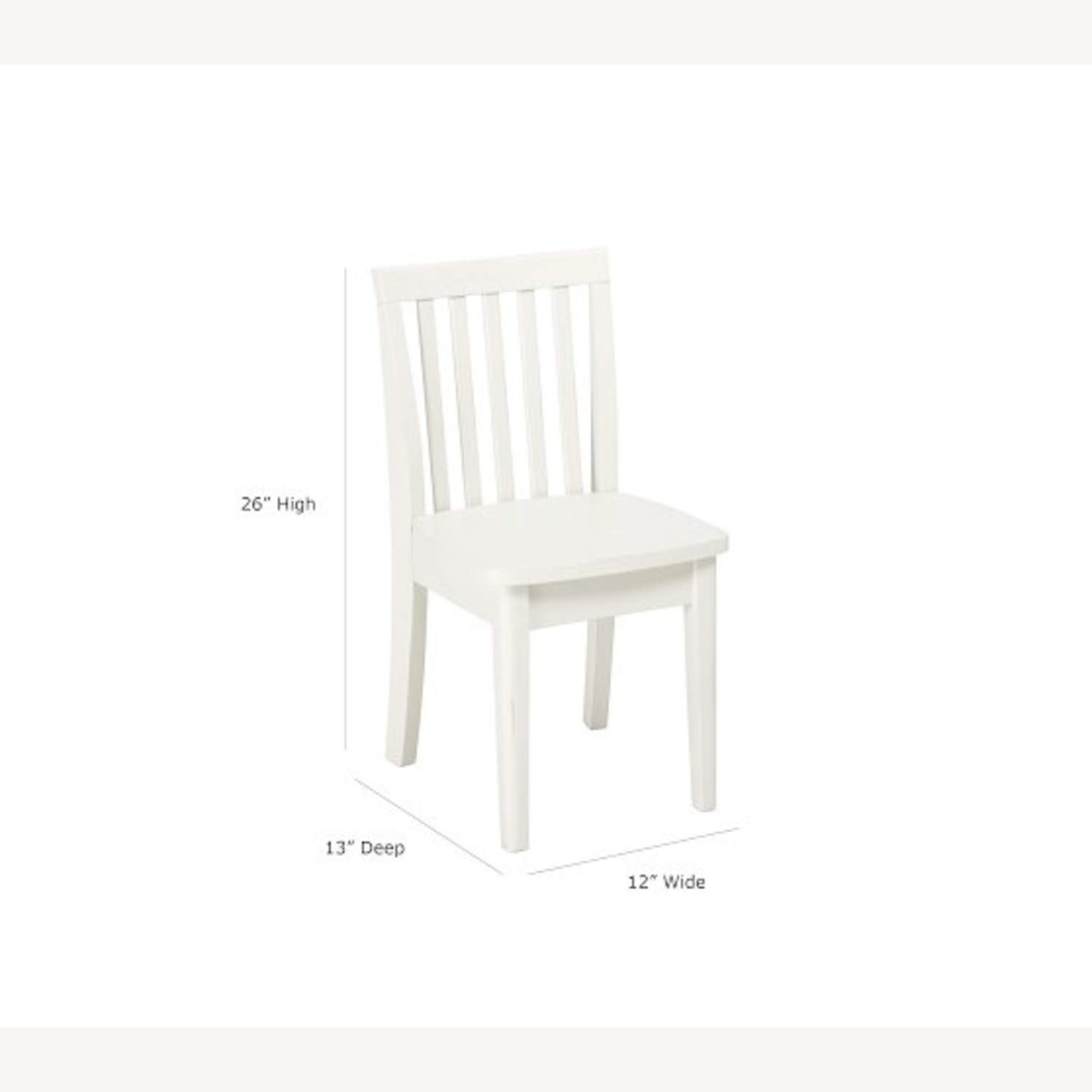 Pottery Barn Kids Desk Chair, Simply White - image-1