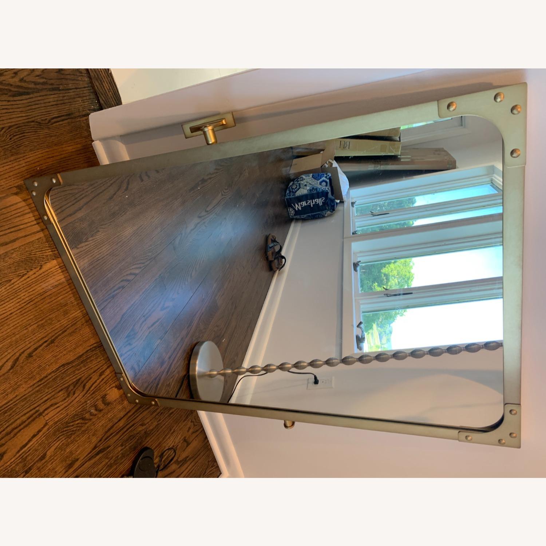 Restoration Hardware Industrial Rivet Pivot Mirror - image-3