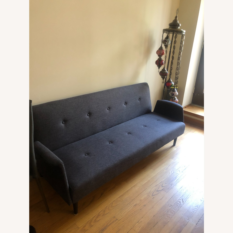 Gold Sparrow Dark Grey Sofa Bed - image-1