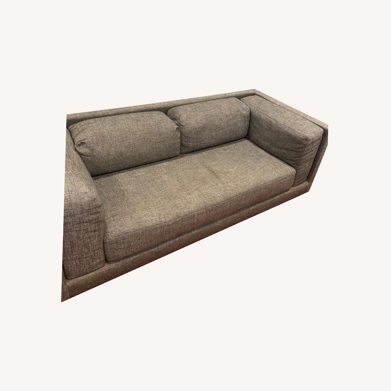 CB2 2-seater Grey Sofa - image-0