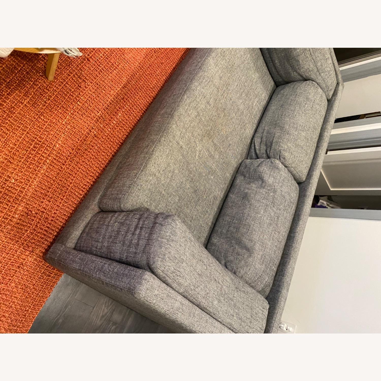 CB2 2-seater Grey Sofa - image-8