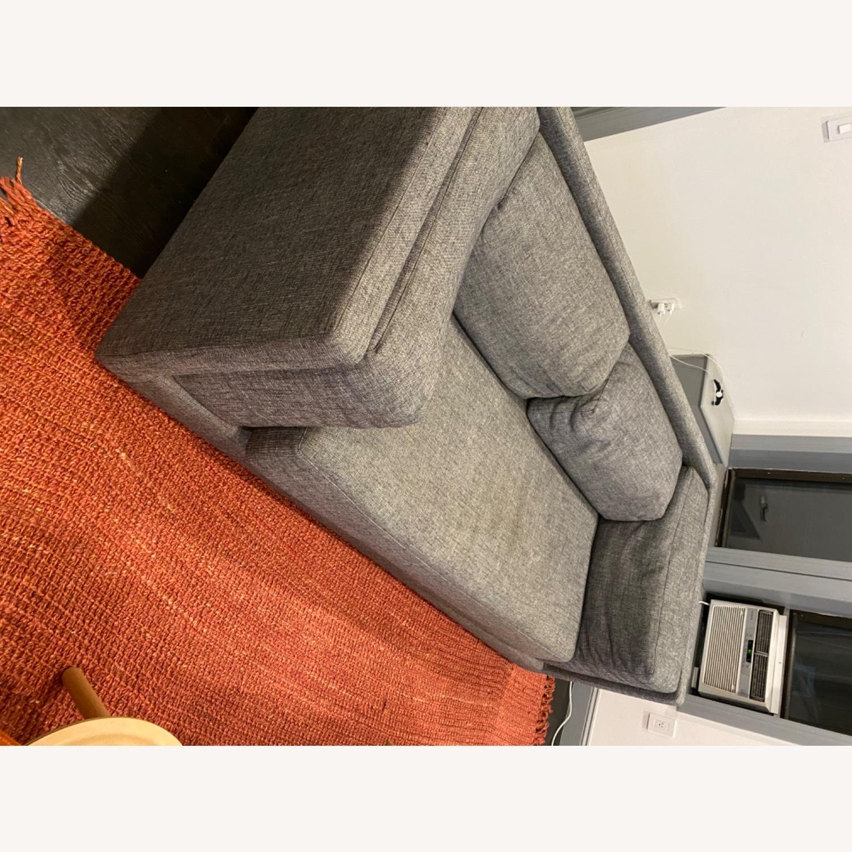 CB2 2-seater Grey Sofa - image-7