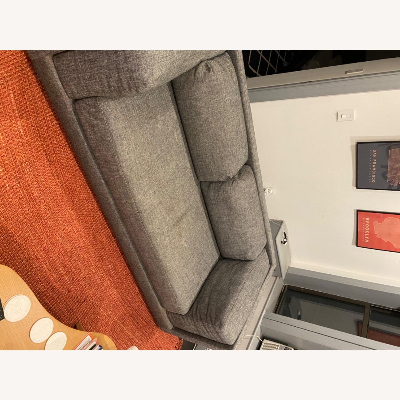 CB2 2-seater Grey Sofa - image-5