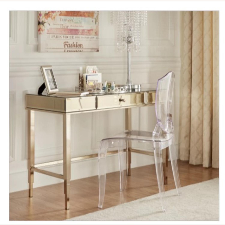 Champagne Mirrored Desk Vanity Aptdeco