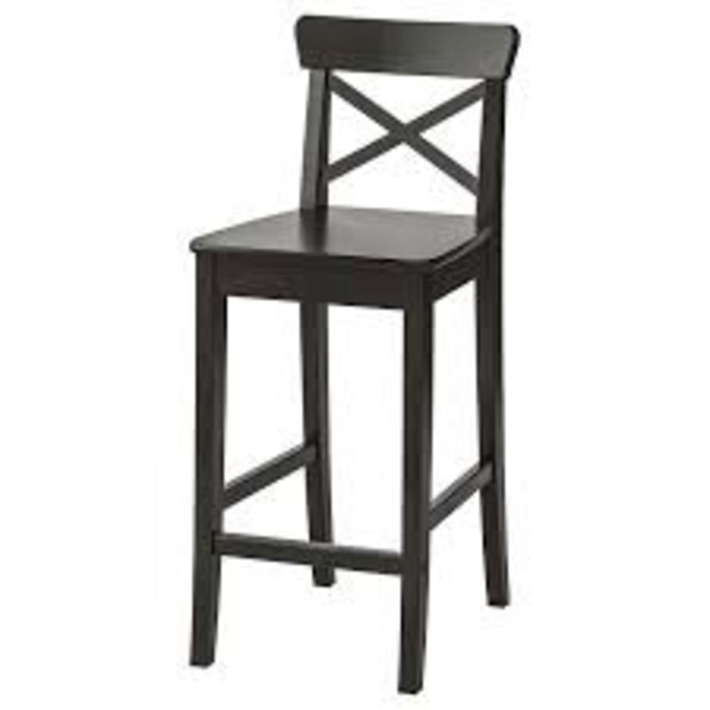 IKEA Barstool with Backrest - image-1
