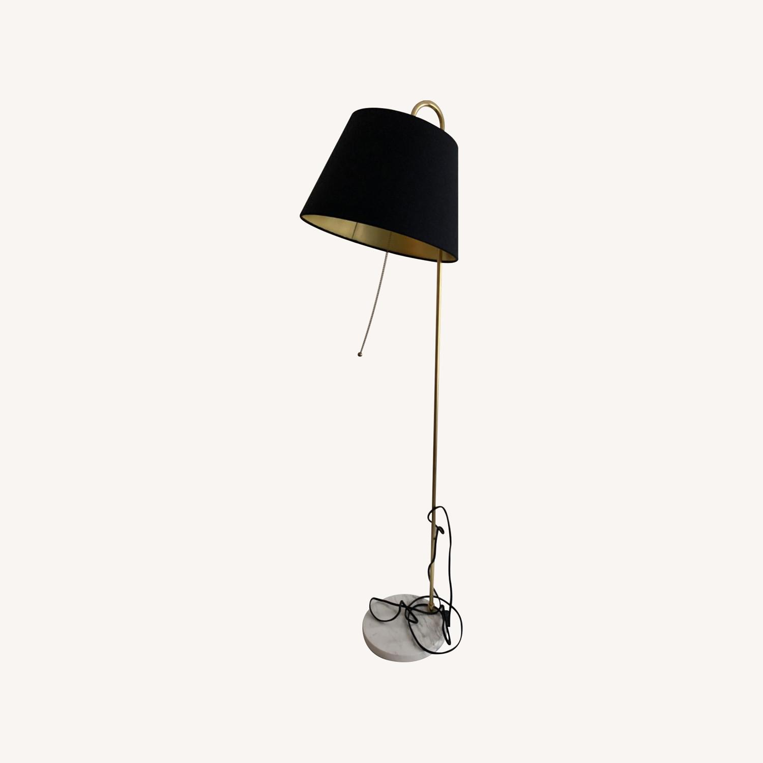 Rejuvenation Floor Lamp w Black Shade - image-0