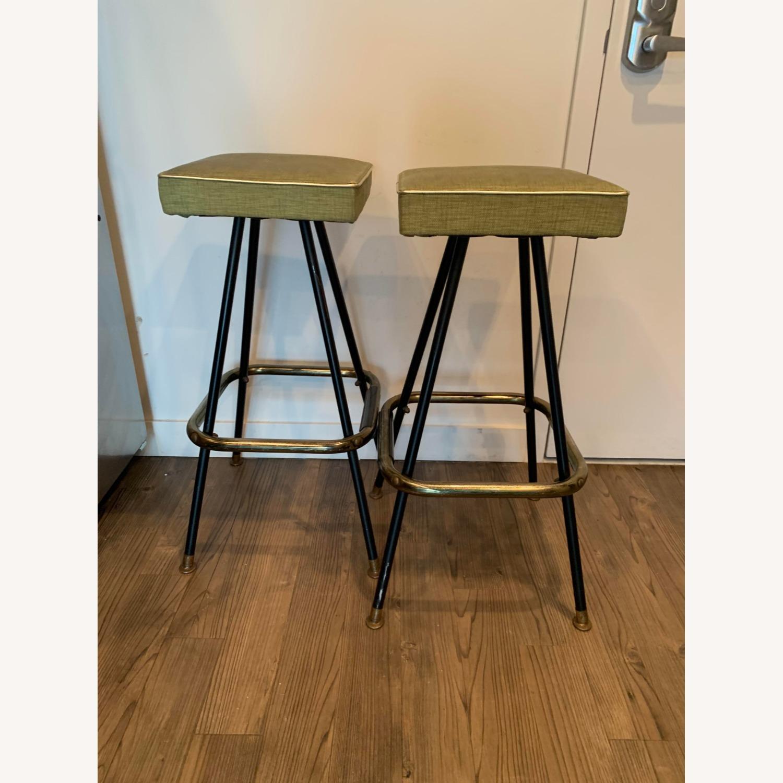 1960's Mid Century Modern Lime Green Barstools - image-1