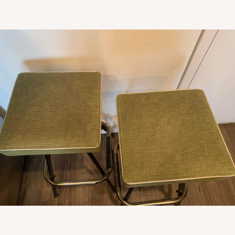 1960's Mid Century Modern Lime Green Barstools - image-2