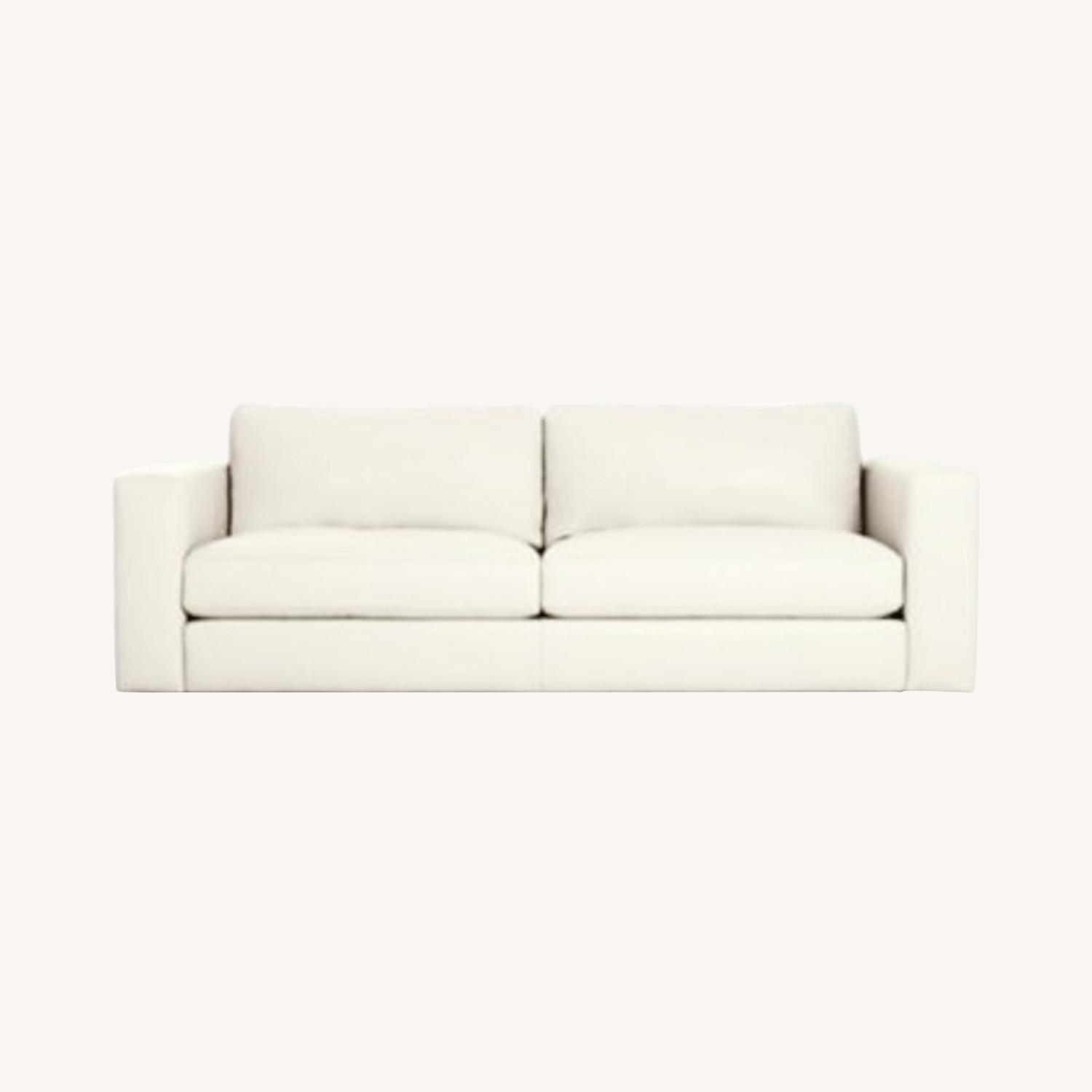 Design Within Reach Reid Sofa White Leather - image-0