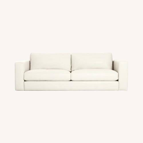 Used Design Within Reach Reid Sofa White Leather for sale on AptDeco