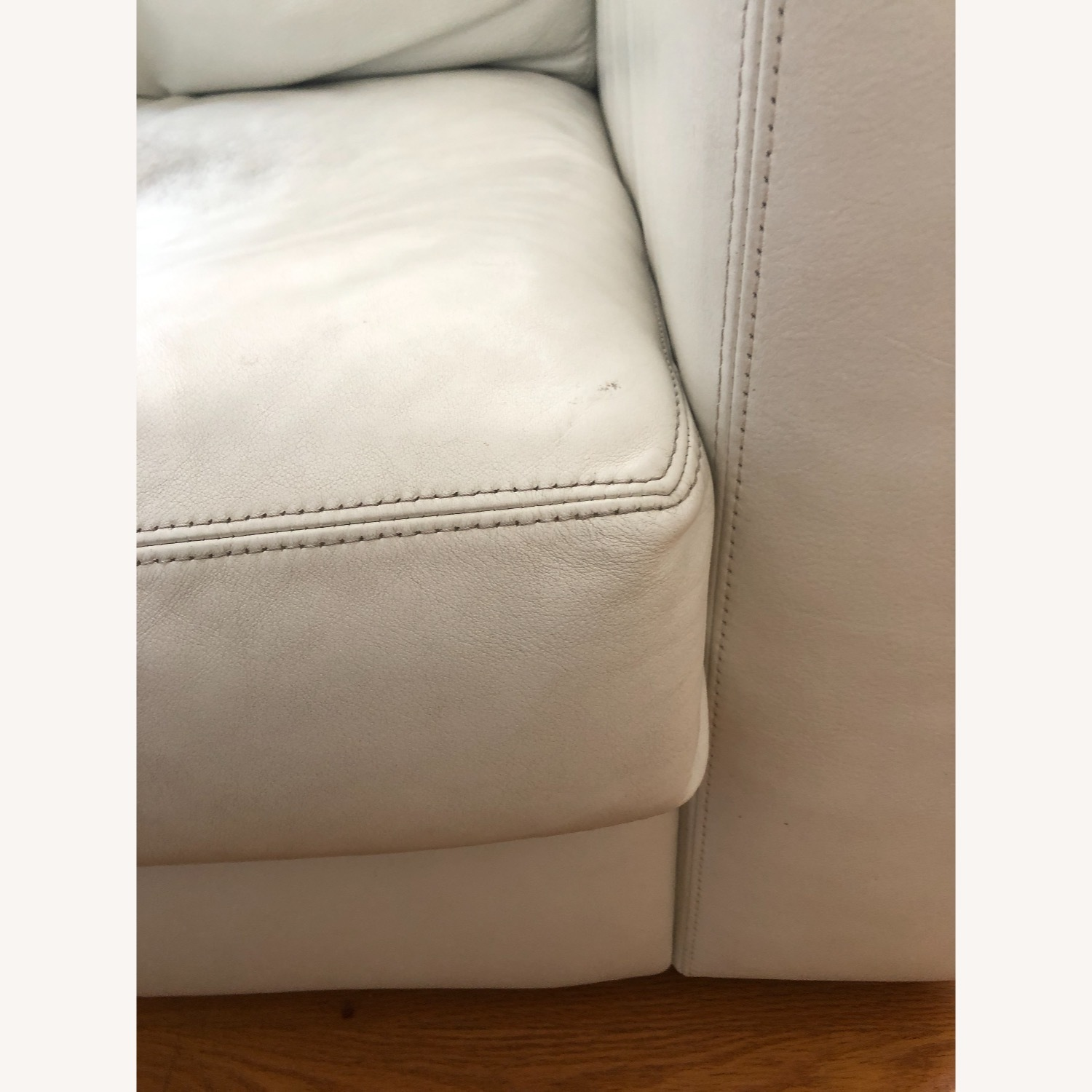 Design Within Reach Reid Sofa White Leather - image-13