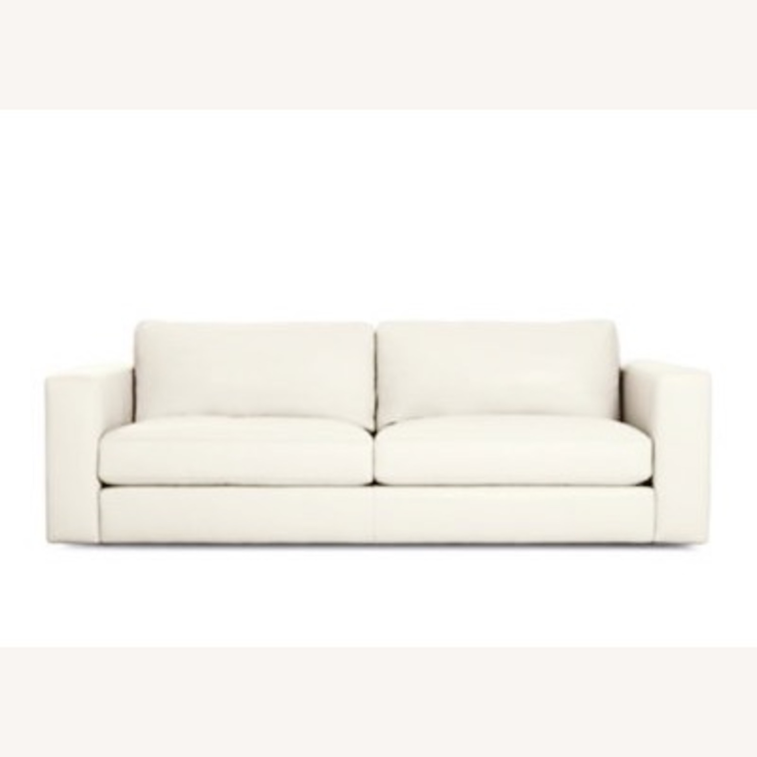Design Within Reach Reid Sofa White Leather - image-1