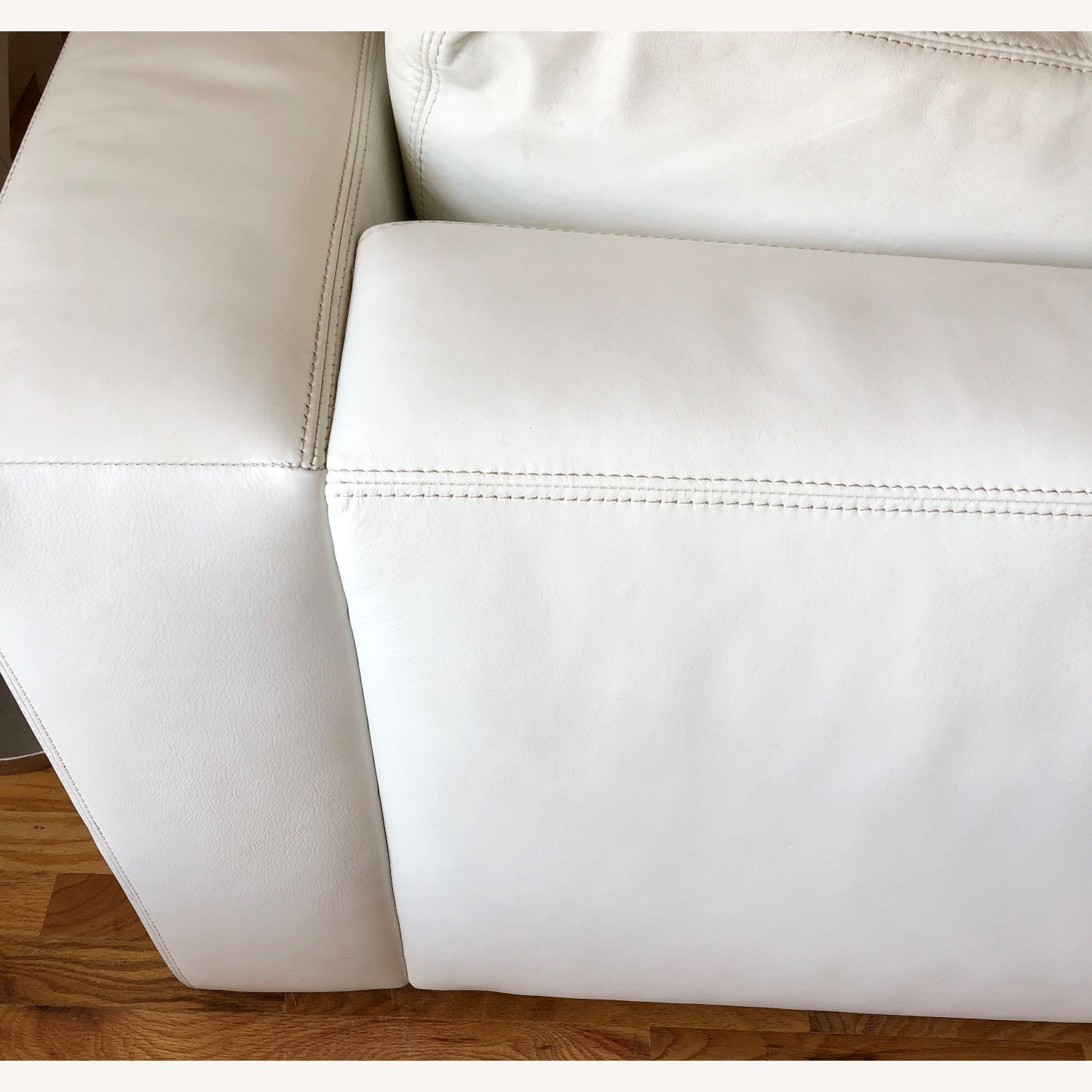 Design Within Reach Reid Sofa White Leather - image-21