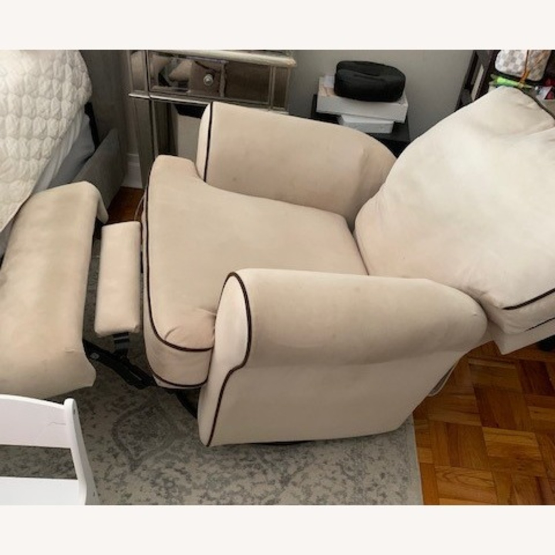 Macy's Beige Recliner Micro Suede Fabric - image-3