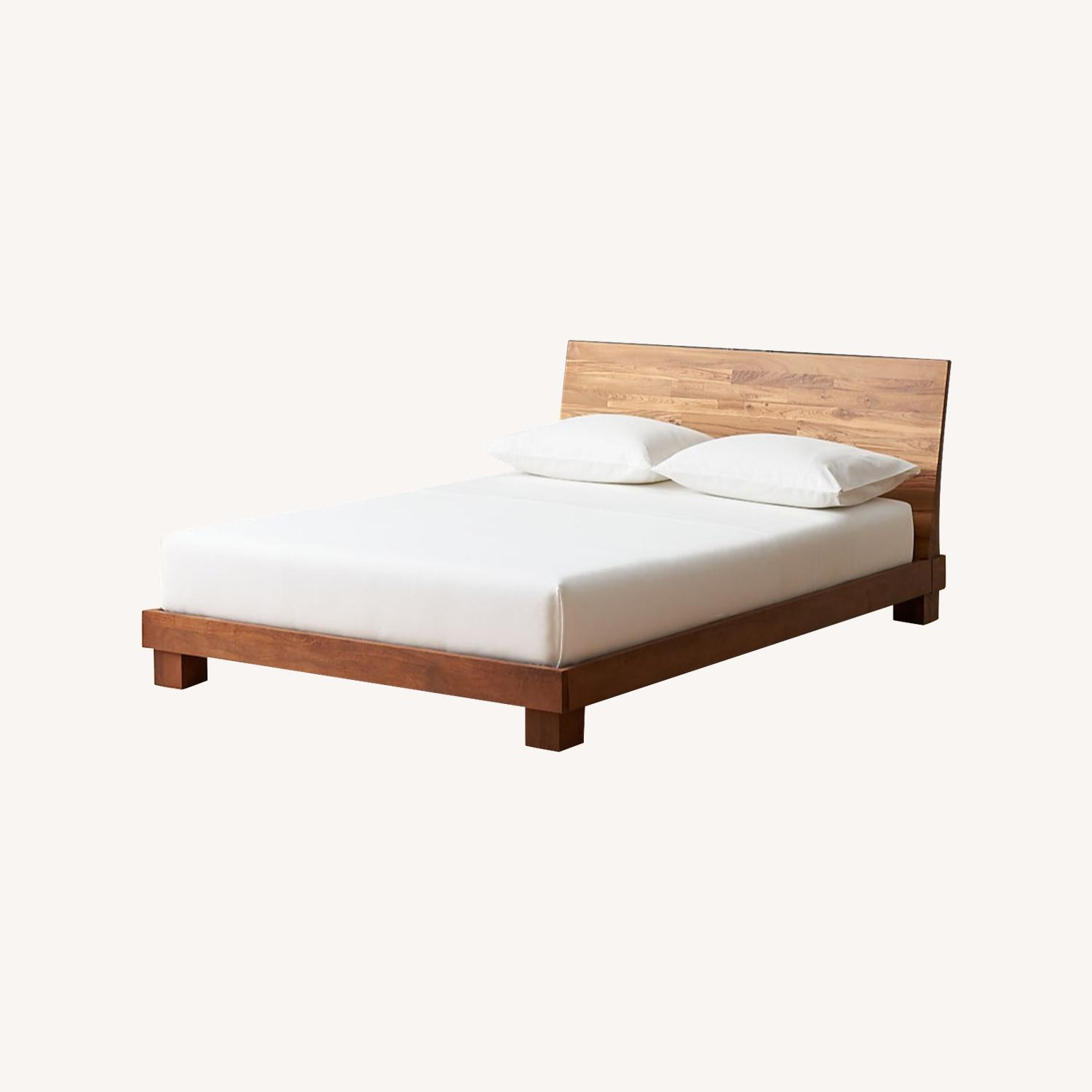 CB2 Dondra Teak Full Bed - image-0
