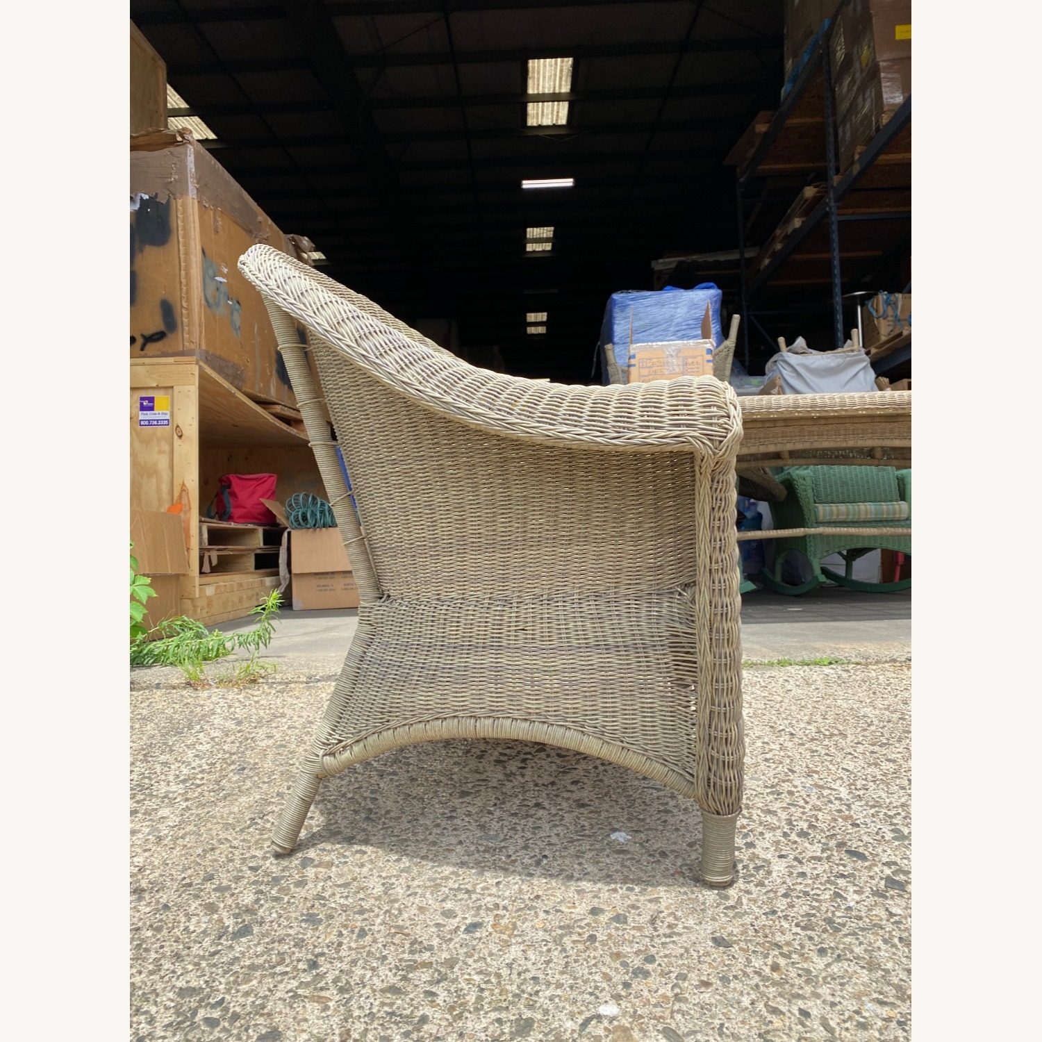 Two Restoration Hardware Outdoor Lounge Chairs - image-1