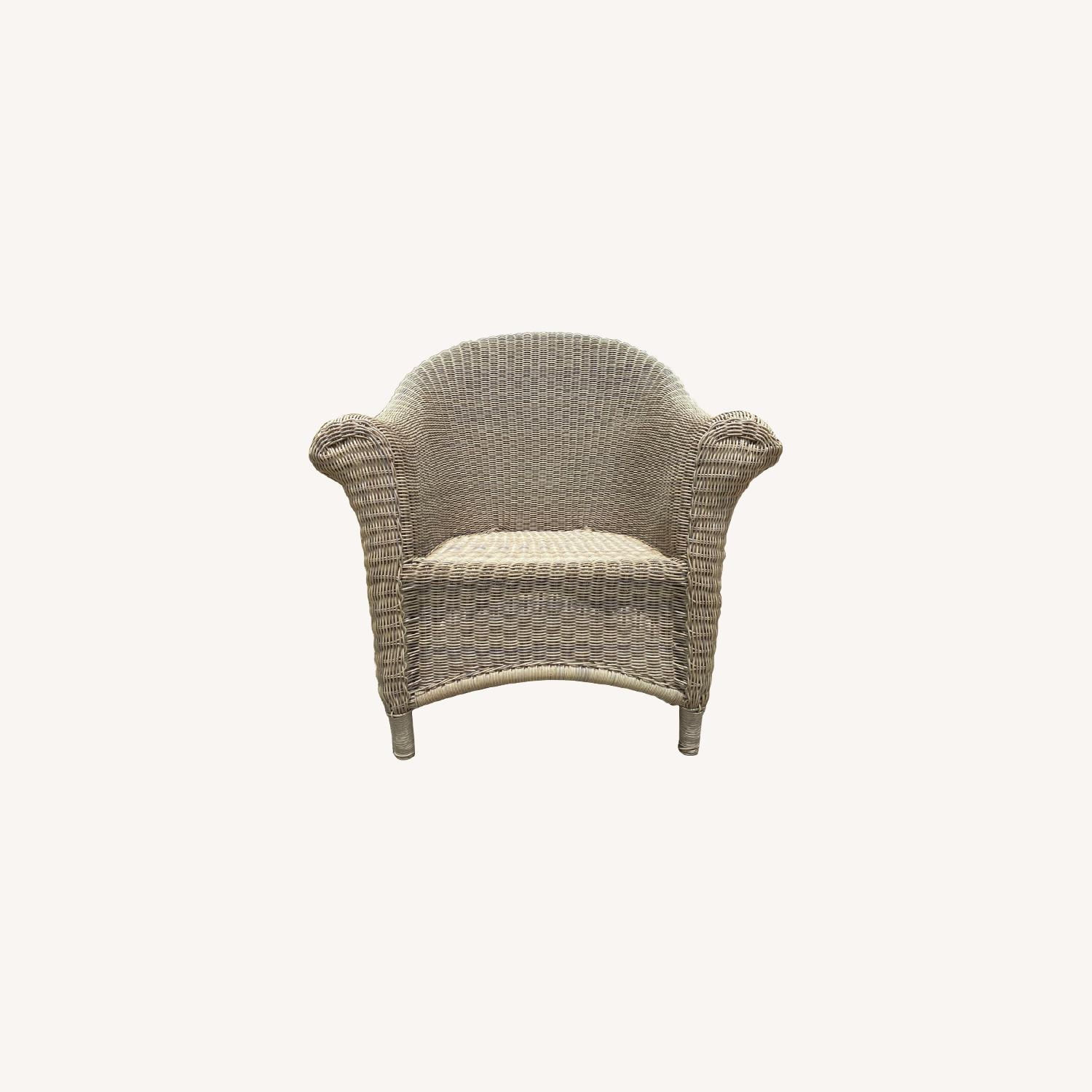 Two Restoration Hardware Outdoor Lounge Chairs - image-0
