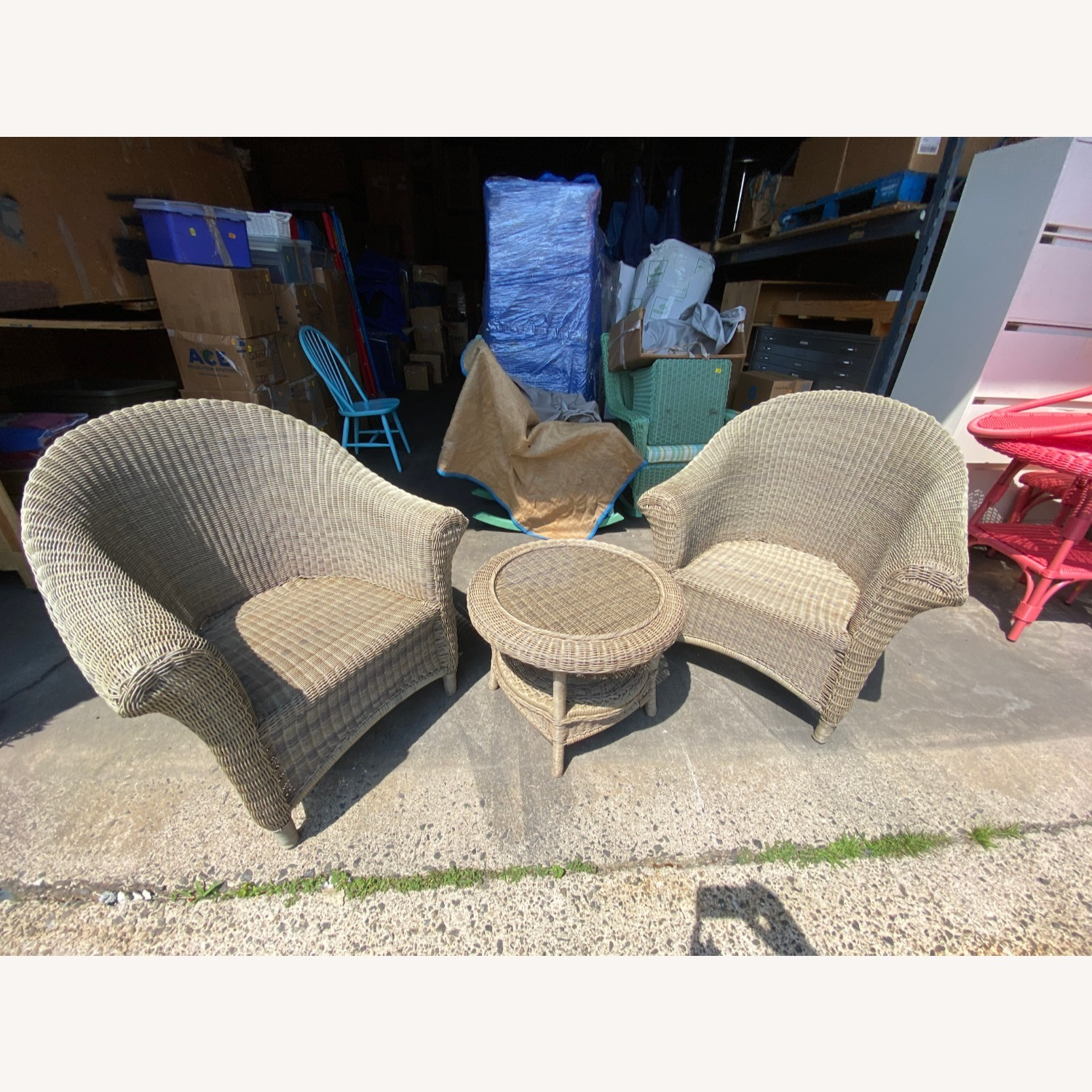 Two Restoration Hardware Outdoor Lounge Chairs - image-4