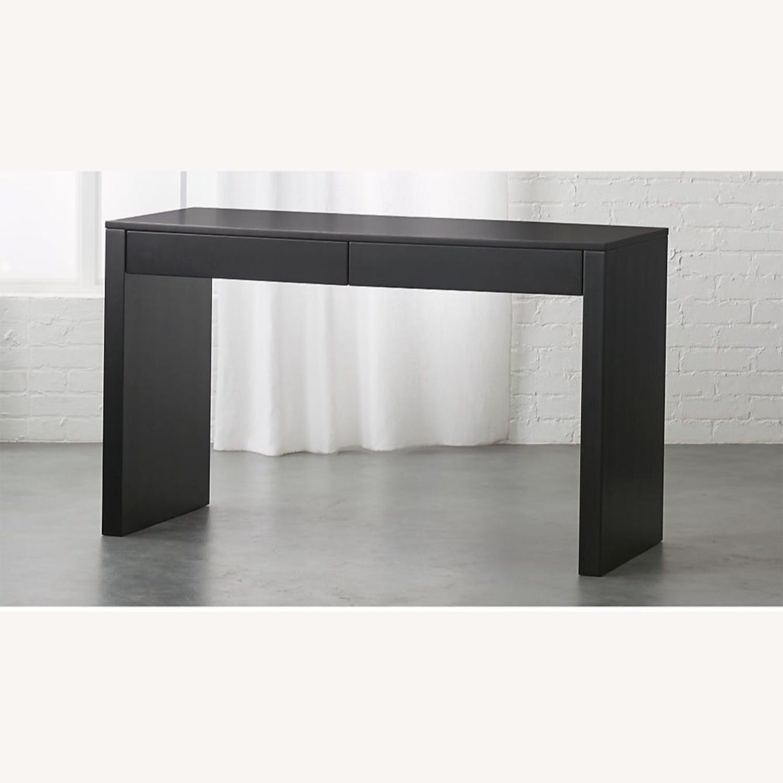 CB2 Black Runway Desk - image-1