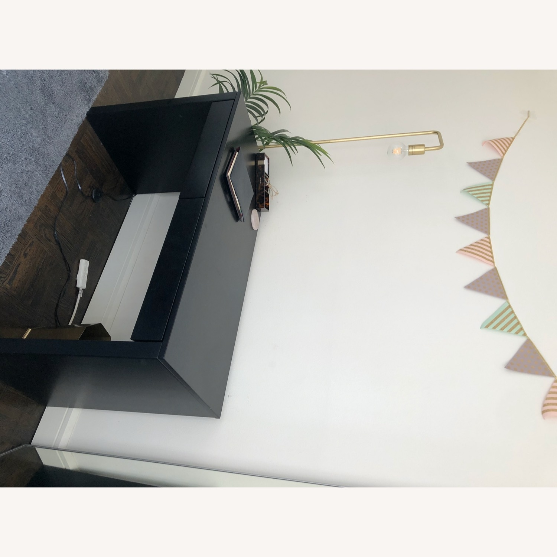 CB2 Black Runway Desk - image-4