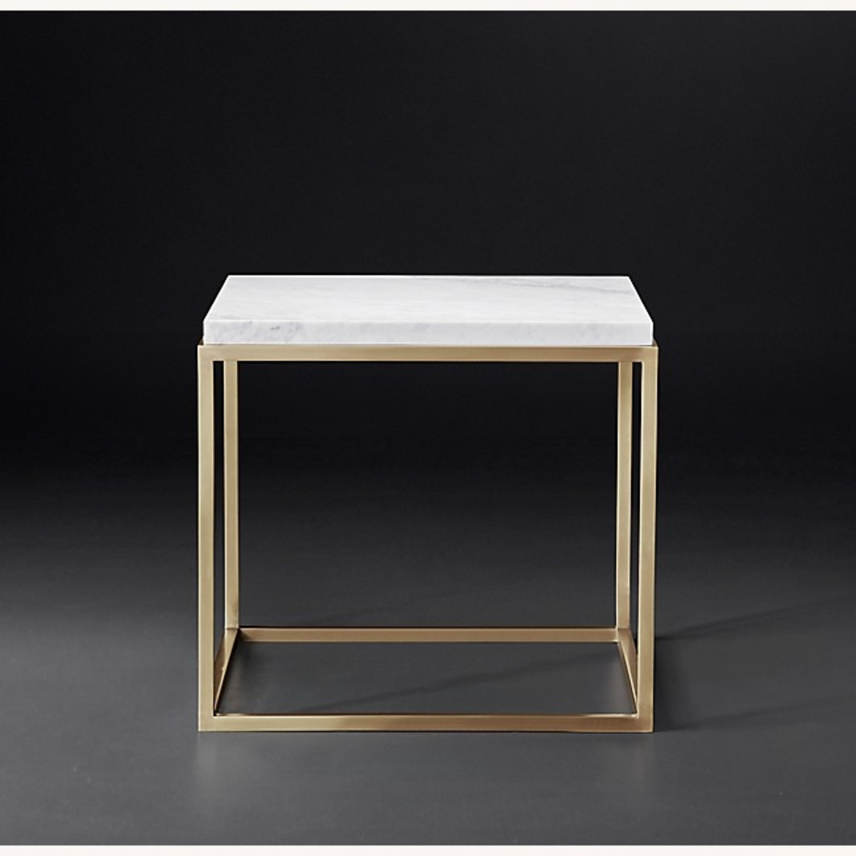 Restoration Hardware Nicholas Marble Table - image-1