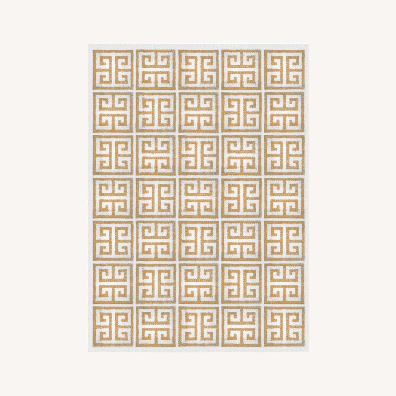 Jonathan Adler Border Flat Weave Rug - image-0