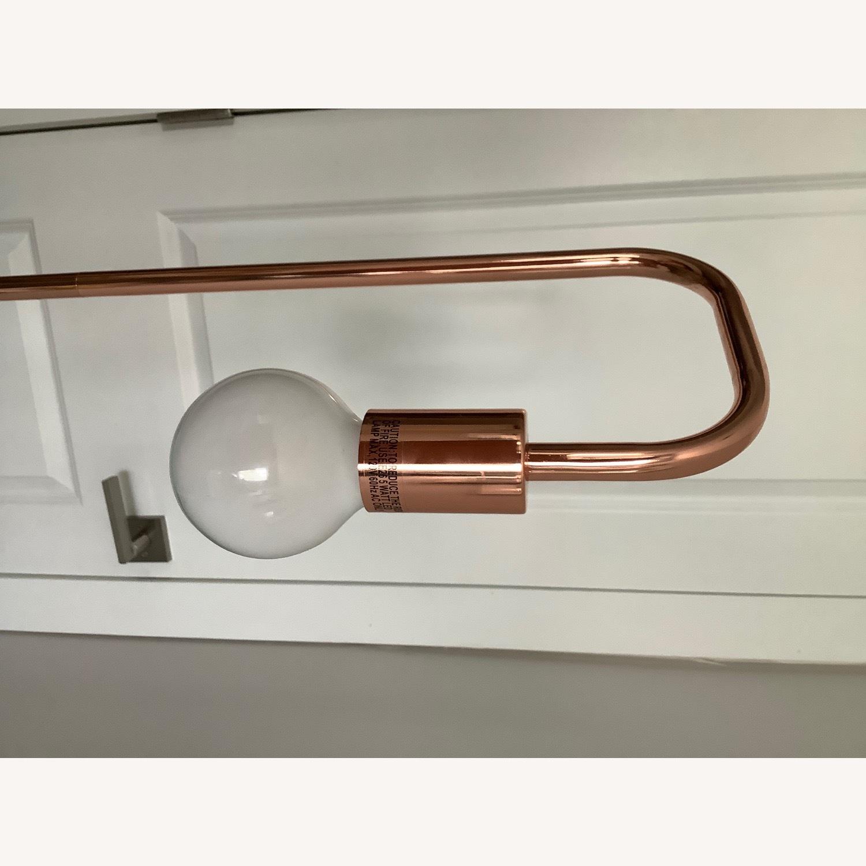 Copper/Rose Gold Minimal Bulb Floor Lamp - image-7