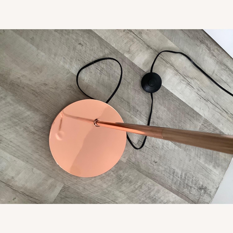 Copper/Rose Gold Minimal Bulb Floor Lamp - image-6