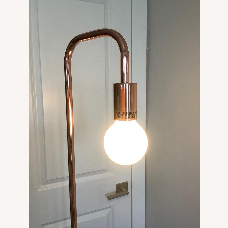 Copper/Rose Gold Minimal Bulb Floor Lamp - image-2