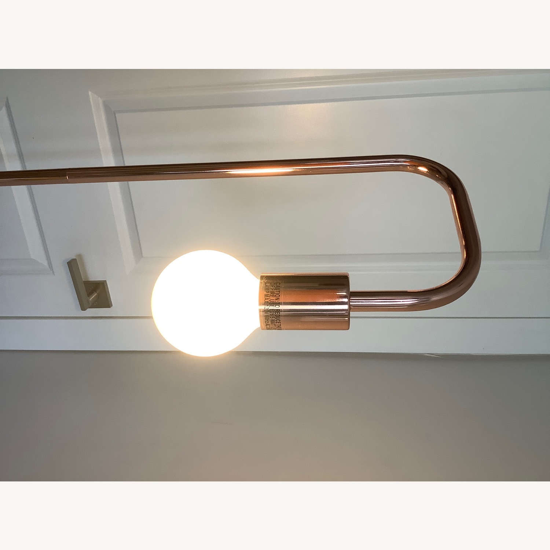 Copper/Rose Gold Minimal Bulb Floor Lamp - image-8